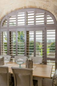 Hatfield Plantation Shutters in large window